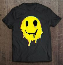 Acid Smiley Face Yellow T Shirt Vintage Gift For Men Women Funny Tee