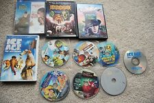 Lot of 12 Childrens DVDs disney ice age charlie and the tarzan emperor's new