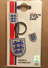 More details for team england key ring and badge set. official england product.
