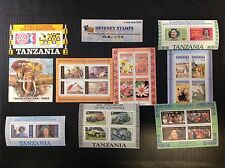 TANZANIA MINT SOUVENIR SHEETS X 9