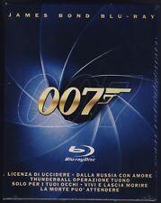 S.Connery R.Moore P.Brosnan JAMES BOND AGENTE 007 cofanetto 6 Blu-Ray COME NUOVO