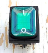 INTERRUPTOR LUMINOSO ESTANCO VERDE IP54 16A 250V. 125ºC