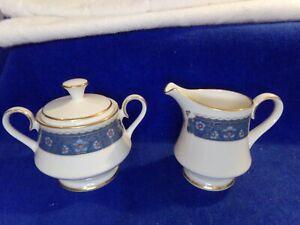 Carico Fine China Renaissance 7951 Made in Japan Cream and Sugar Set Gold Trim