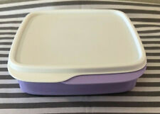 Tupperware Square Packette Divided Dish Lunch Container 2 Cups Lilac New