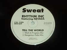 "RHYTHM INC feat NEVADA - Tell the world - UK 4-track 12"" Vinyl Single"