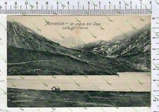 D216) FOTO CARTOLINA  MONCENISIO SUSA TORINO VISTA DEL LAGO 1913