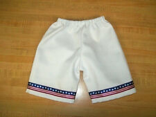 "PANTS USA FLAG STARS+STRIPES 4TH OF JULY PATRIOTIC for 16-17"" CPK Cabbage Patch"