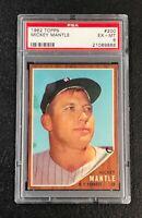 New York Yankees Mickey Mantle 1962 Topps #200 PSA 6 Ex-Mt