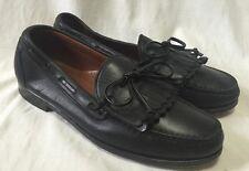 Allen Edmonds Alameda Kilte Loafers Men's 8.5D Black Leather Slip On Bowtie shoe