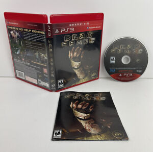 Dead Space 1 (Sony PlayStation 3, PS3 2008) Case Manual Disc CIB Complete GH Red