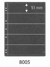 PRINZ PRO-FIL 5 STRIP BLACK STAMP ALBUM STOCK SHEETS Pack of 5 Ref No: 8005