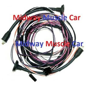 rear body taillight lamp wiring harness 57 Chevy 210 Bel Air Sport Coupe
