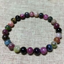 Natural Crystal Beads Bracelet Colorful Tourmaline 6mm AAA