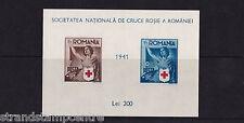 Romania - 1941 foglio di Croce Rossa in Miniatura-U/M-SG ms1508