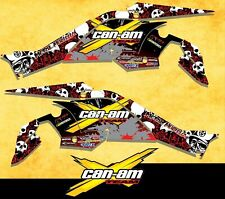 Racing graphics kit fits Can-Am DS450ATV, set decals, wraps