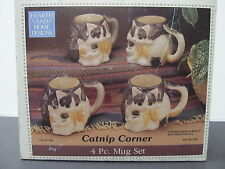 Hearth and Home Designs 1990 Catnip Corner Cat Kitten Mug Set 5003