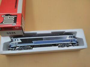 Train Jouef hO locomotive électrique CC 72001 bleue réf 8571 neuve boite