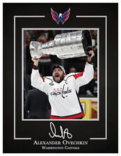 Alex Ovechkin, Capitals finally hoist the Stanley Cup, Autographed Photo Replica