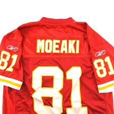 Kansas City Chiefs Tony Moeaki (81) stitched authentic Reebok Football jersey XL