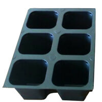 Seed starter trays 360 LARGE CELLS total (60 trays of 6 cells each)
