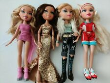 Lot of 4 Bratz Dolls Original 2001 Dressed and Ready