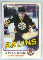 RAY BOURQUE 1981-82 O-Pee-Chee OPC '81 Hockey Card #1 VGEX NHL Boston Bruins c