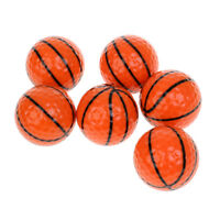 6 Pieces Basketball Design Novelty Golf Balls Practice Golf Accessories Gift