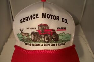 Service Motor Co. 7200 Series Case Tractor IH Red Rope Snapback Hat