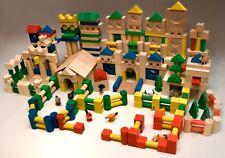 500 Holzbausteine Bauklötze Holzklötze Holzspielzeug aus Buche Holz Bausteine .