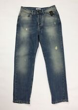 Berna jeans uomo usato W30 tg 44 destroyed denim slim straight boyfriend T3786