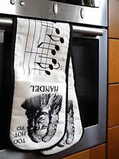 Oven Gloves - Too Hot To Handel - Music Themed Gift - Musical Oven Gloves