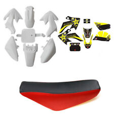 CRF50 Stickers + White Plastic + Seat for Atomik Thumpstar 50/70/90/110/125cc
