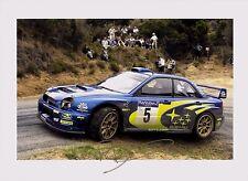 Richard Burns 1971 ~ 2005 firmado 12x8 Subaru Impreza WRC 01 2001