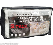 Odyssey Living 2 per pack - 100% White Duck Feather Pillow