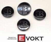 4 x Brabus Smart Fortwo 451 Wheel Hub Caps Black Glossy Genuine  A4544010324C50B