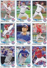 2013 Topps Update Texas Rangers Complete Base Team Set 10 Cards w/2 RCs PROFAR
