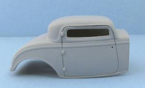 Jimmy Flintstone '32 Ford 3 Window Chopped Top  Rat Rod Resin Body  #214
