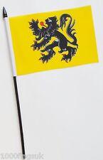Belgium Flanders Small Hand Waving Flag