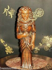 Antique Artisan Carved Wood Lady Folk Religious Art Figurines & Statues Pre-1900