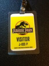 Jurassic Park ID Badge Visitor Pass Costume Prop Cosplay