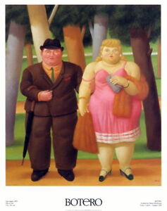 Una Coppia, 1999 by Fernando Botero Art Print A Married Couple Poster 35.5x27.5