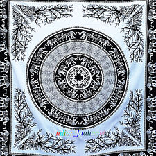 New Indian Cotton Queen Mandala Tapestry Wall Hanging Bohemian Hippie Bedspread