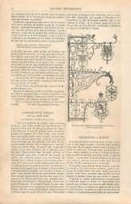 Enseigne Auberge de Village en Forêt Noire / Perforateur à Diamant GRAVURE 1866