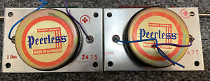Peerless DT10HFC Tweeters Original Matched Pair - Perfect Condition