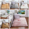 Fluffy Rugs Shaggy Area Carpet Floor Mat Faux Wool Seat Pad Sofa Home Bedroom