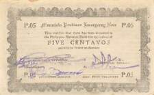 Philippines  5  Centavos  ND. 1944  WWII  Issue  Circulated Banknote CCA