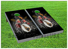 Drumset CORNHOLE BEANBAG TOSS GAME w Bags Game Boards Digital  Set 1002