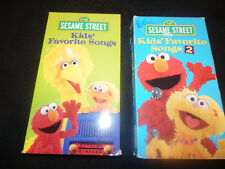 Lot of 2 SESAME STREET Kids' Favorite Songs Vols 1 and 2 VHS Video Tape 2 Tapes