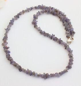 Tanzanite Necklace Edelsteinarmkette Splitter Nuggets Blue Collier Natural