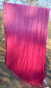Peter Nygard Pink Torch OR Teal Combo Scarf Fringe 3T1R1025 OR 3T1R1025 NWT